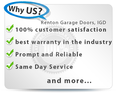 Renton Garage Door Repair Same Day Service!